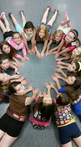 POK GS Troop 10075 Brownies - Heart